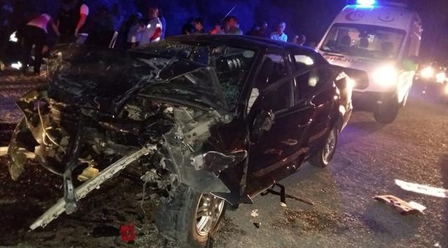 Muğlada iki otomobil çarpıştı: 9 yaralı