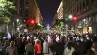 Arjantin'de halk hükümete destek olmak için sokağa döküldü