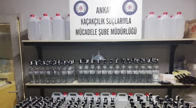 Ankarada sahte içki operasyonu