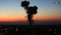 İsrail savaş uçakları Hamas'a ait bir bölgeyi vurdu