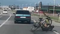 Bisiklet sürücüsü ölüme böyle davetiye çıkardı