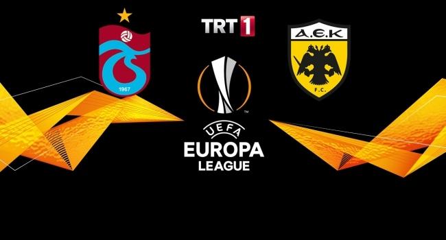 Trabzonspor  AEK maçı TRT1'de