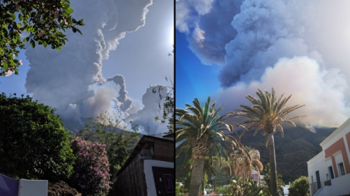 İtalya'daki Stromboli Yanardağı'nda patlama