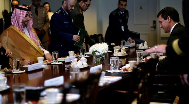 """Suudi Arabistan ile ABD arasında """"savunma iş birliği"""" görüşmesi"""