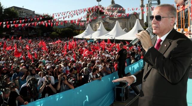 Cumhurbaşkanı Erdoğan: Müttefikimiz bizim için değil terör örgütü için güvenli bölge peşinde
