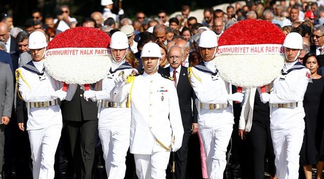 CHP Genel Başkanı Kılıçdaroğlu beraberindeki heyetle Anıtkabiri ziyaret etti