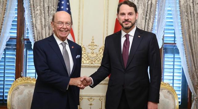 Hazine ve Maliye Bakanı Albayrak, ABD Ticaret Bakanı Ross ile görüştü