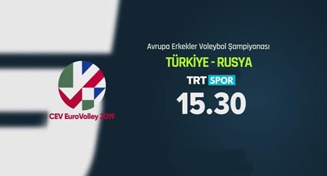 Türkiye Rusya maçı TRT Spor'da