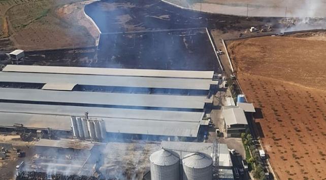 Gaziantepte dev besi çiftliğinde çıkan yangın söndürüldü