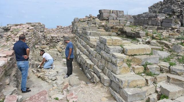 Tieion Antik Kentindeki demir ocağı gün yüzüne çıkarılıyor