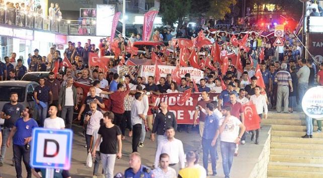 Mardinde teröre tepki ve Diyarbakır annelerine destek yürüyüşü