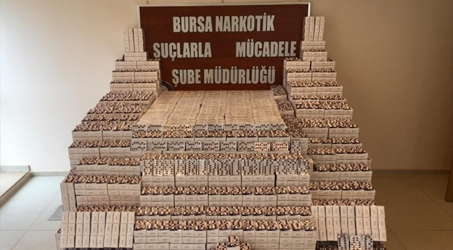 Bursa merkezli operasyonda 430 bin uyuşturucu hap ele geçirildi