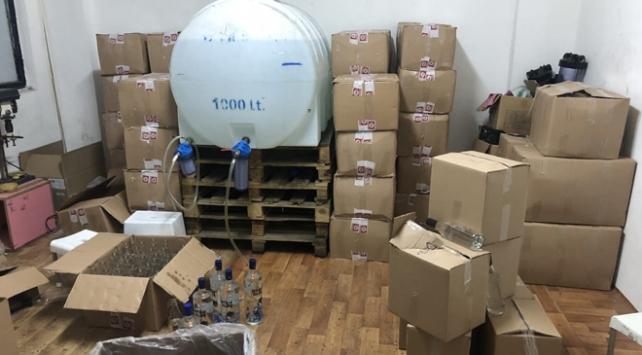 İstanbulda sahte içki imalathanelerine baskın