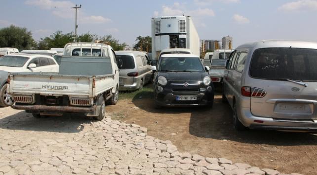 Türkiyeden çalınan araçlar Suriyede bulundu