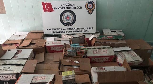 Adıyamanda 3 bin 969 paket kaçak nargile tütünü ele geçirildi