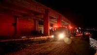 İzmir'de Bayraklı Şehir Hastanesi inşaatında yangın