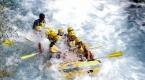 Köprüçay, adrenalin tutkunu turistlere rafting heyecanı yaşatıyor