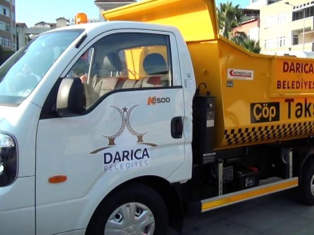 Kocaeli'deki Çöp Taksi 24 saat hizmet veriyor