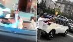 İstanbulda düğün konvoyunda şoke eden görüntüler kamerada