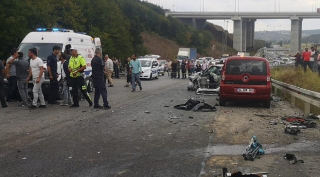 Beykozda zincirleme kaza: 1 ölü 2 yaralı