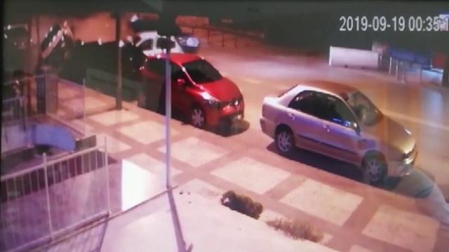 Denizli'de 12 aracın karıştığı kaza anı kamerada