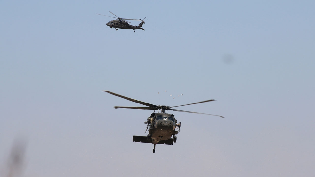 Fıratın doğusunda altıncı ortak helikopter uçuşu tamamlandı