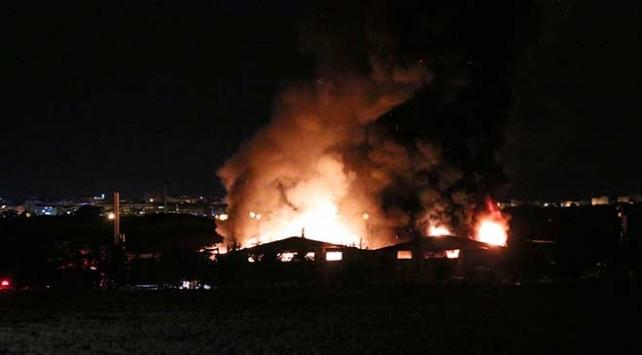 Kırklarelinde tekstil fabrikasında yangın