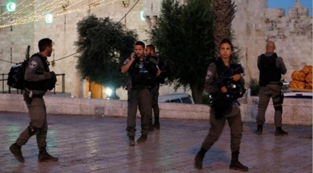 İsrail polisi Kudüste 25 Filistinliyi gözaltına aldı