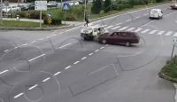 Bolu'daki trafik kazaları kameralara yansıdı