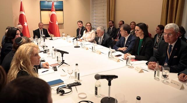Cumhurbaşkanı Erdoğan, ABDde temaslarını yoğun şekilde sürdürüyor