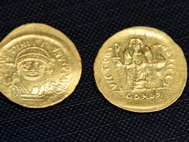 Çanakkalede Bizans dönemine ait altın hazine bulundu