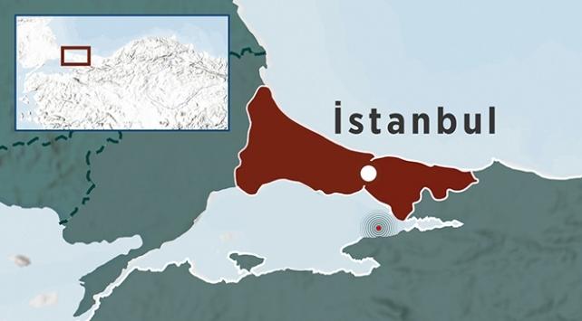 Marmara Denizinde 3,3 büyüklüğünde deprem