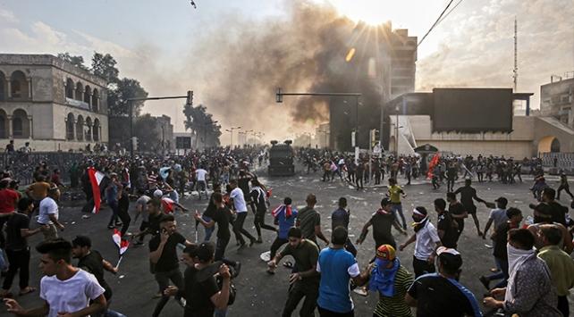 Bağdattaki protestolar ikinci gününde sürüyor