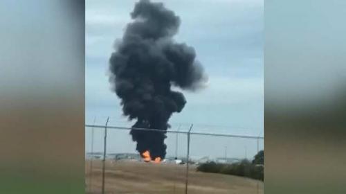 ABD'de bombardıman uçağı düştü: 5 ölü