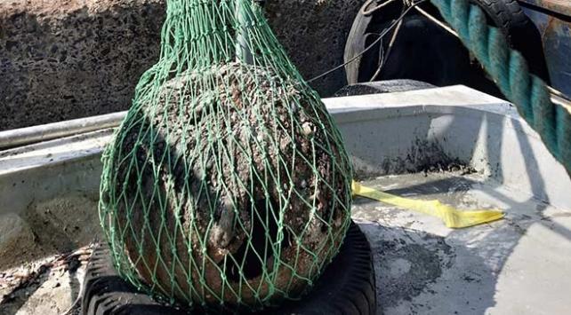 Balıkçıların bulduğu eski harp mayını imha edildi