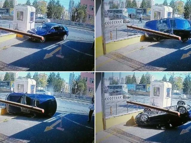AVM girişinde ilginç kaza
