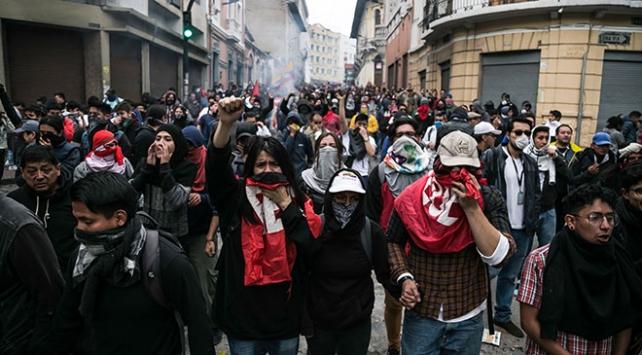 Ekvadordaki grev ve protestolar sürüyor: 350 kişi gözaltında
