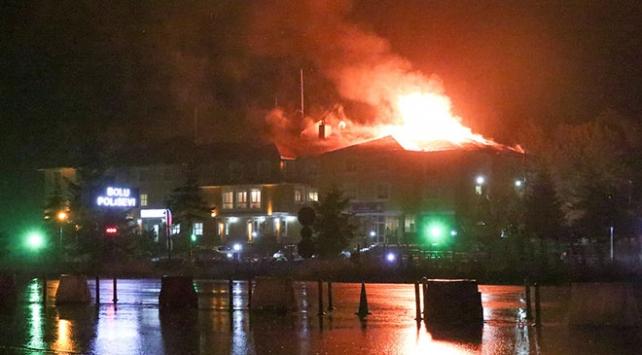 Bolu Dağı Polisevinde yangın çıktı