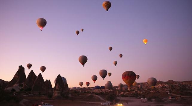 Kapadokyadaki balon turlarına 9 ayda 437 bin katılım