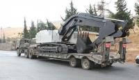 Barış Pınarı'na iş makinesi desteği