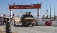 Suriye Milli Ordusu mensuplarını taşıyan 20 araçlık konvoy, Akçakale ilçesine ulaştı