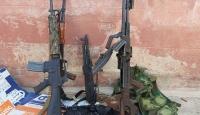 Tel Abyad'da YPG/PKK'lılar silahlarını bırakarak kaçtı