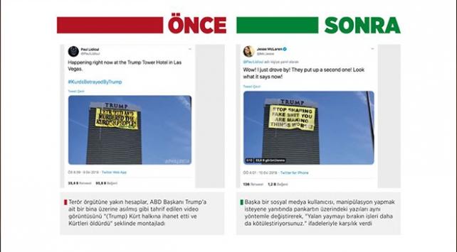 Barış Pınarı Harekatını manipüle etmek için Greenpeace pankartını değiştirdiler