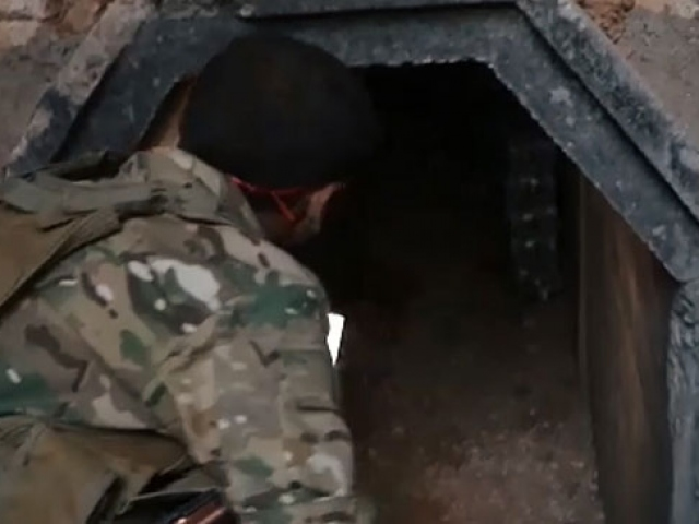 Terör tünelleri böyle görüntülendi