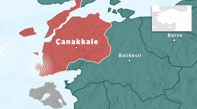 Çanakkale Ayvacıkta 4,3 büyüklüğünde deprem
