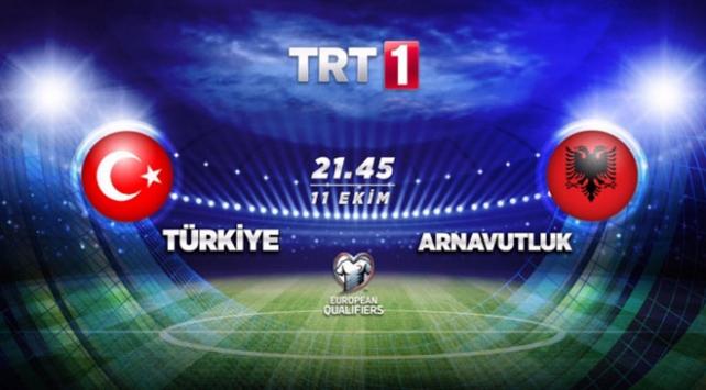 Türkiye - Arnavutluk maçı TRT 1de