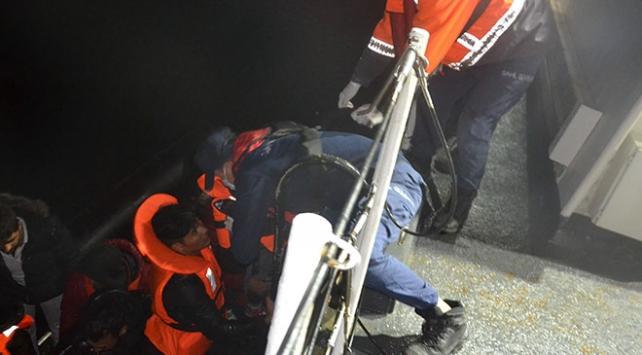 Ege Denizinde 33 düzensiz göçmen yakalandı
