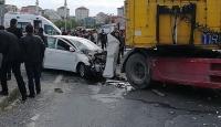 Tekirdağ'da otomobille tır çarpıştı: 5 yaralı