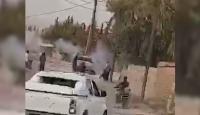YPG/PKK'lı teröristler karargah olarak kullandıkları kiliseden sivilleri hedef alıyor