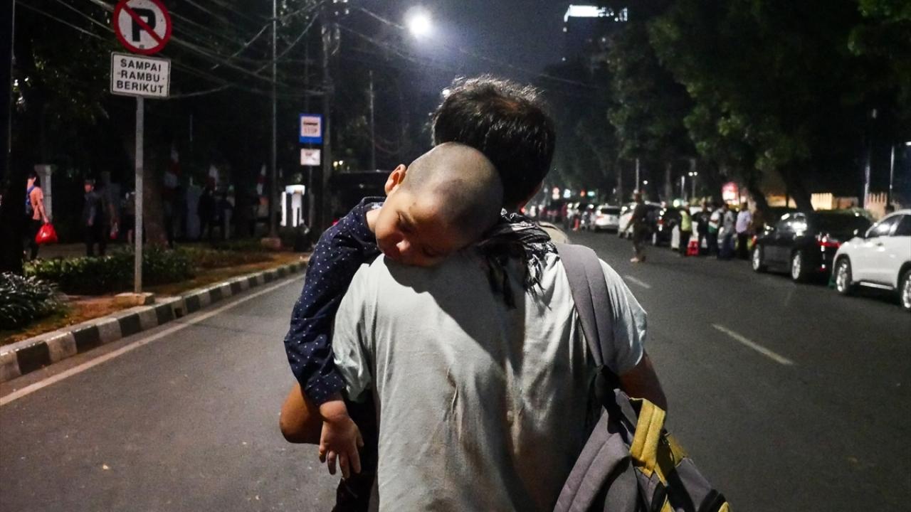 Endonezyadaki sığınmacıların protestosu